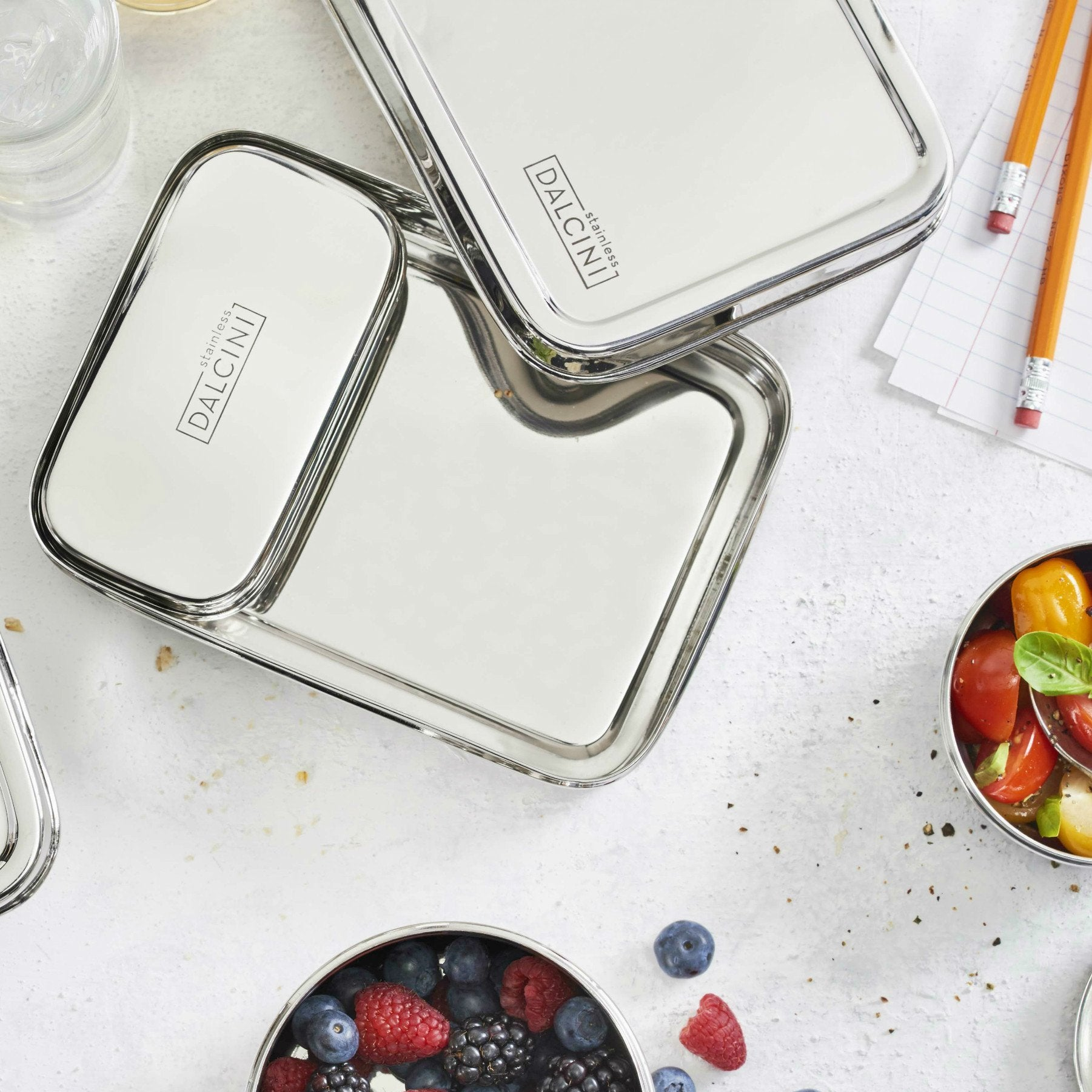 Stainless Steel Lunchbox 2-piece Combo - DALCINI Stainless