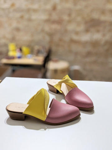 READY MADE: SIZE 39. The Mariyah. Maine Cipria and Maine Limone. 3cm