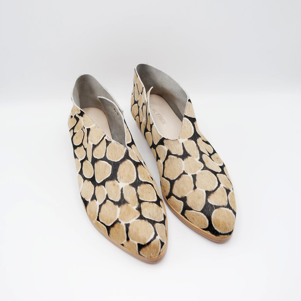 READY MADE: SIZE 37 WIDE. The Audrey.  Giraffe Hair On.