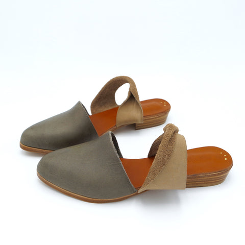 The Mariyah. Raider Grey and Hazelnut. 2cm