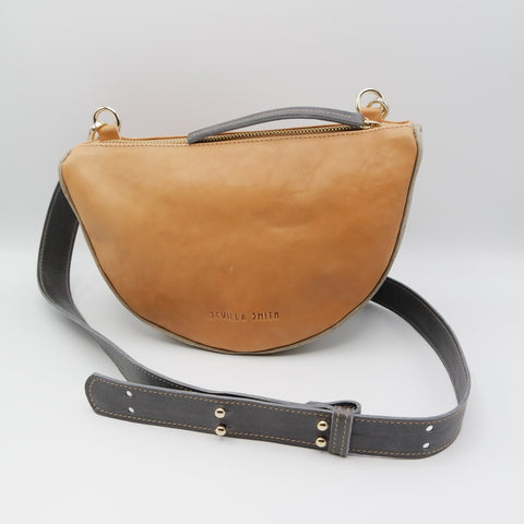 The Tangi Bag. #n12 Undyed with Oregon Taupe