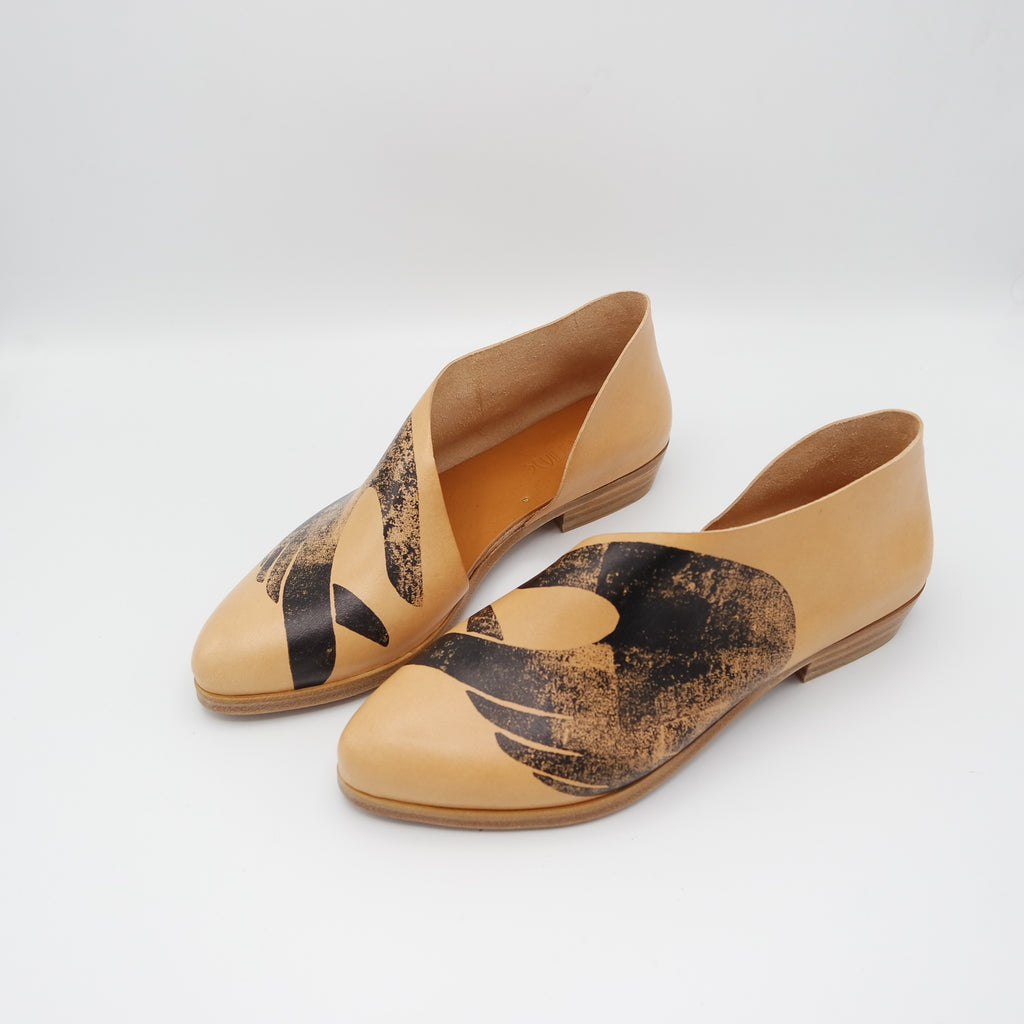 READY MADE: SIZE 36. The Sandy.  Tamponato Undyed with Hands.  Limited Edition Print.