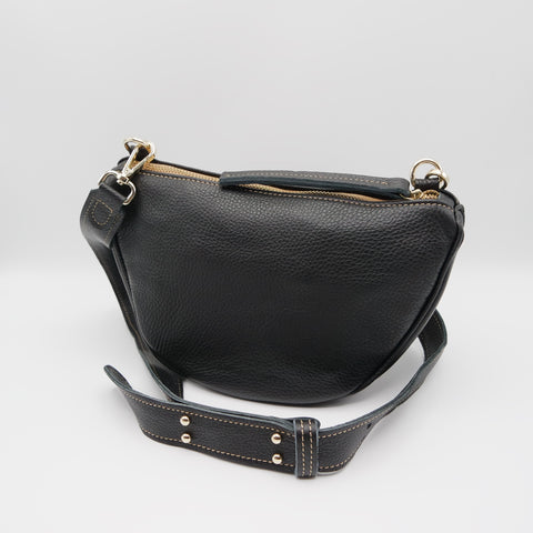 The Tangi Bag. Black Pebble Grain/ Black Pebble Grain. #11