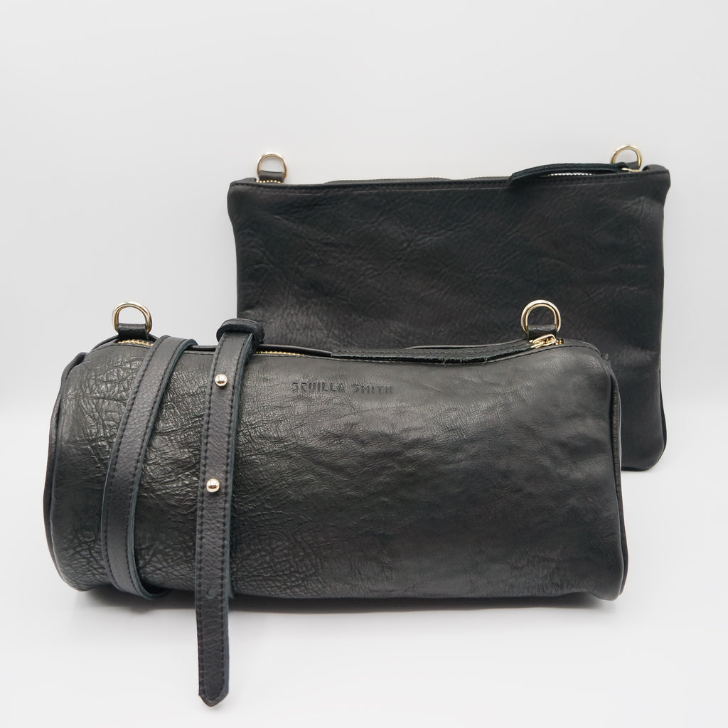 The Marissa Double Bag. Koniec Black / Raider Black