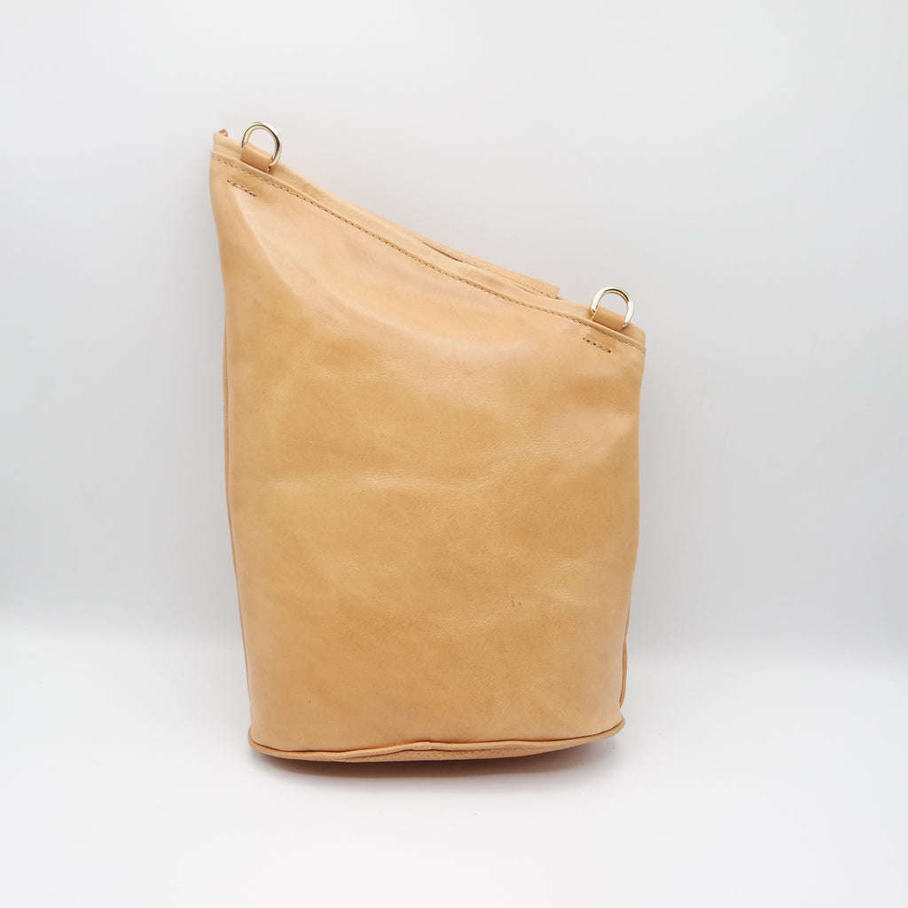 The Tierney Bag. Tamponato Undyed
