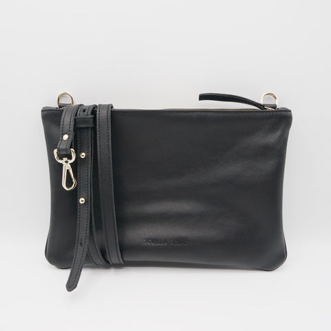 The Marissa Pouch Bag. Figaro Black