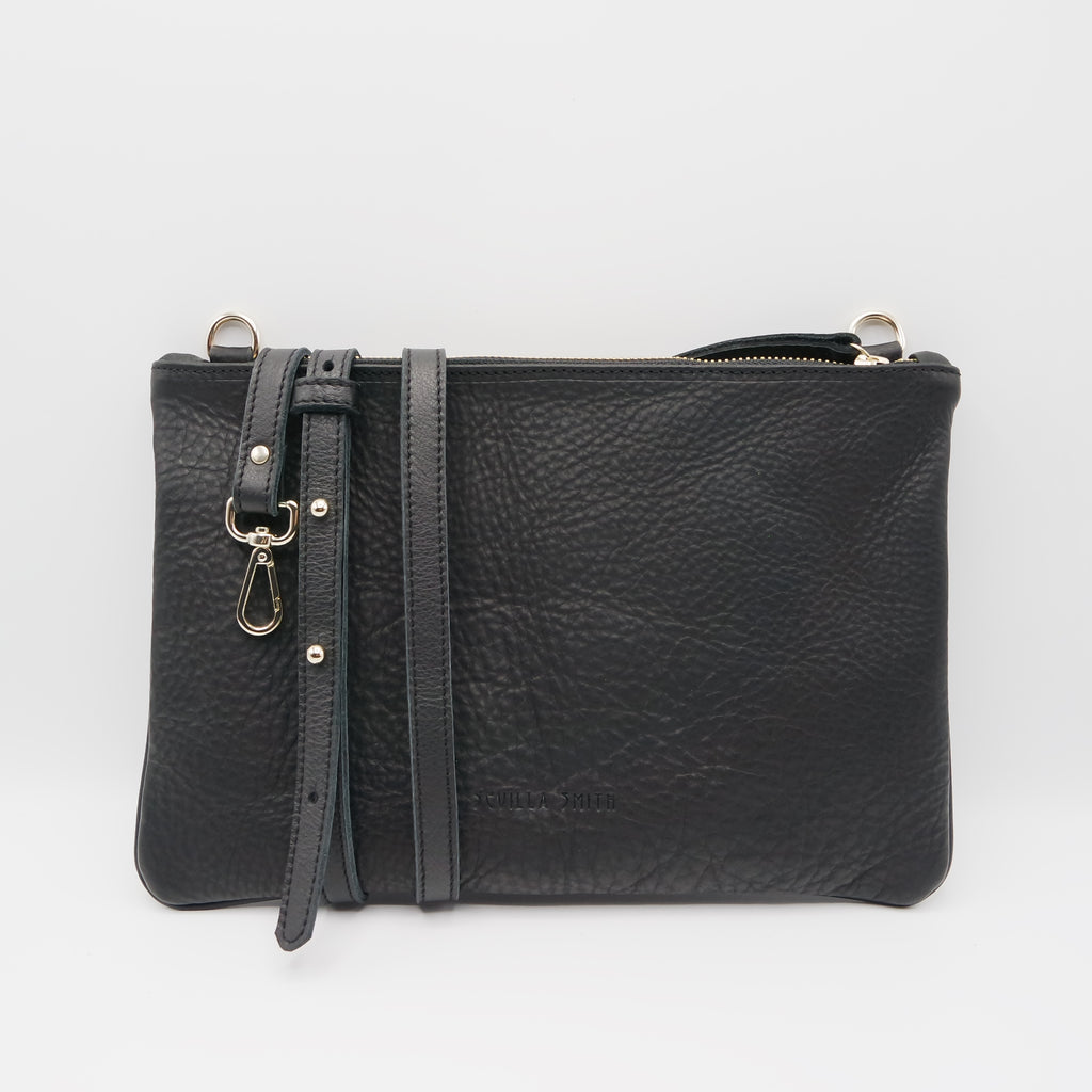 The Marissa Pouch Bag. Raider Black