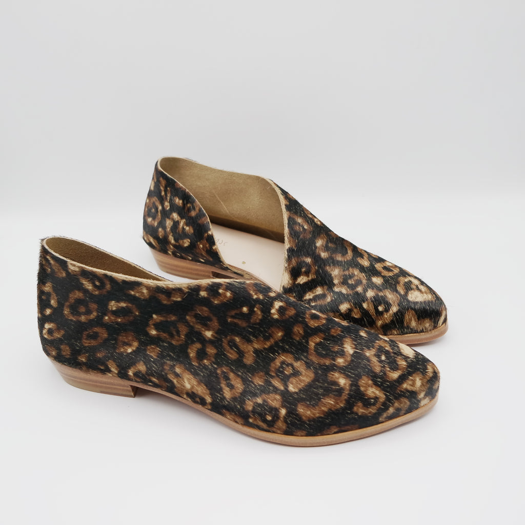 READY MADE: SIZE 38. The Sandy. Black Leopard Hair On