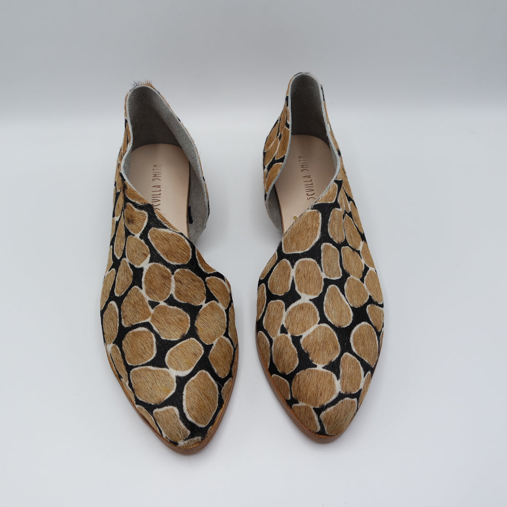 READY MADE: SIZE 37. The Sandy. Giraffe Hair On