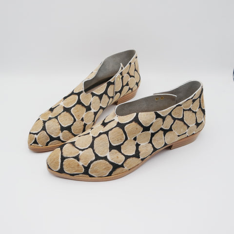 READY MADE: SIZE 40. The Audrey.  Giraffe Hair On.