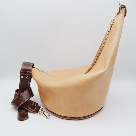 106 The Marisol Bag. Tamponato Undyed and Walnut Gloveskin