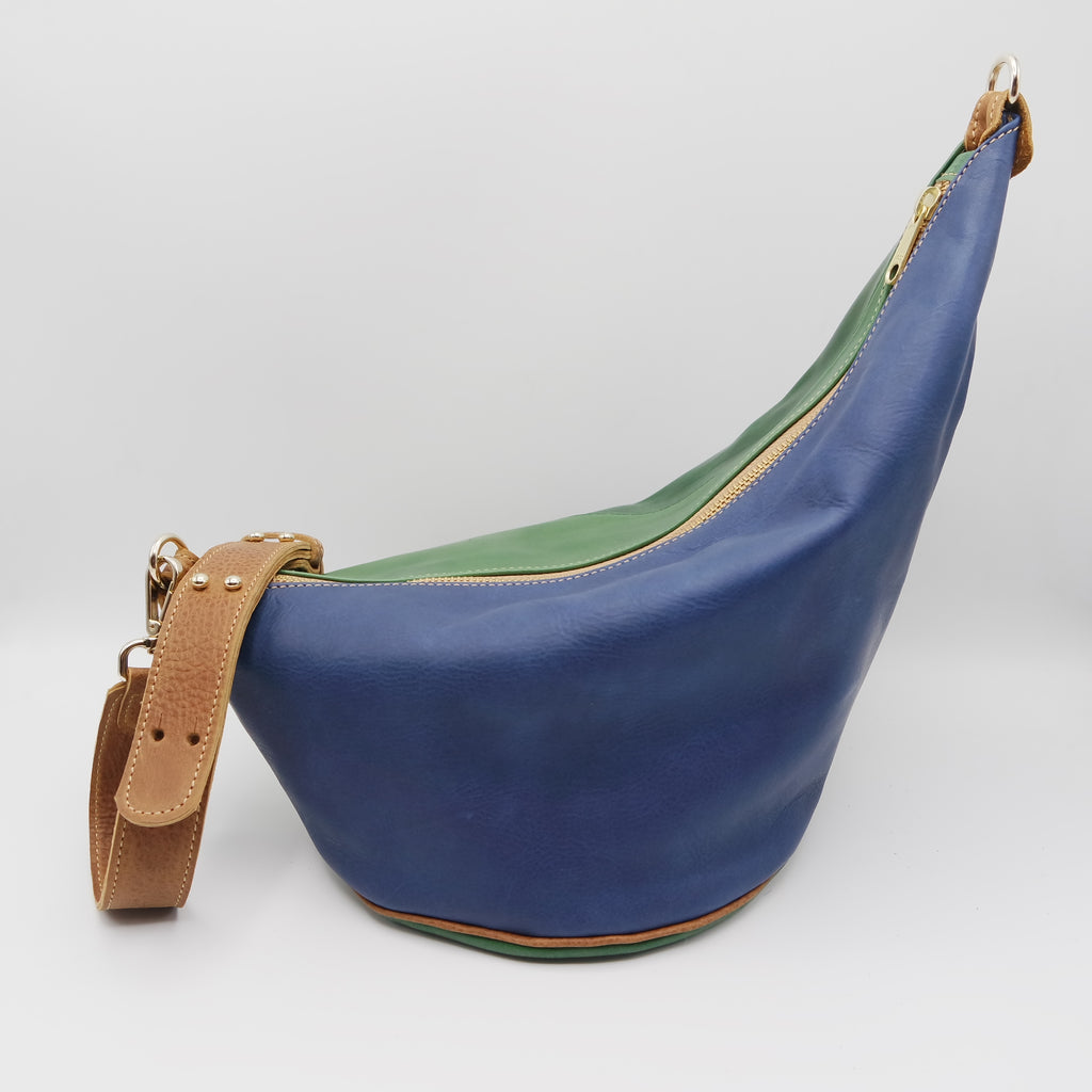 117 The Marisol Bag. Marine Gloveskin, Emerald, Powder Cuoio