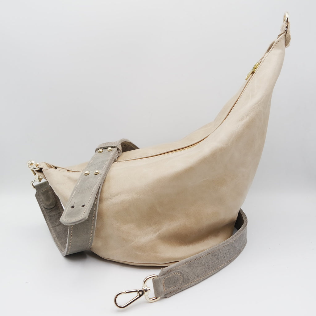 121 The Marisol Bag. Fawn and Oregon Stone