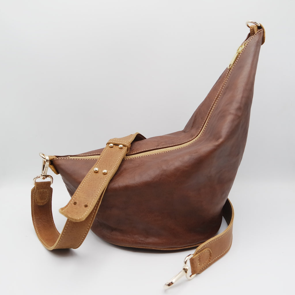 124 The Marisol Bag. Koniec Brown and Powder Cuoio