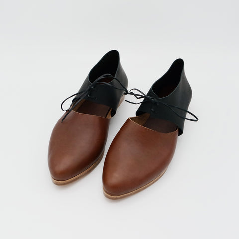 The Javian. Koniec Antique Brown and Black. 2cm