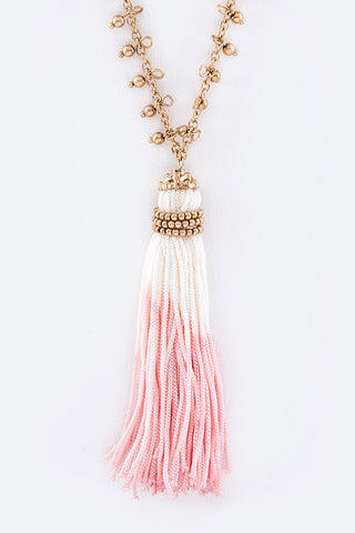 Dip Dye Tassel Necklace