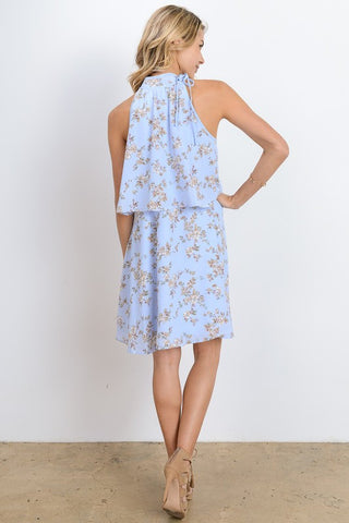 Garden Party Floral High-Neck Dress