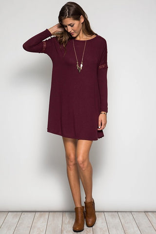 Confessions Of Cabernet Shift Dress