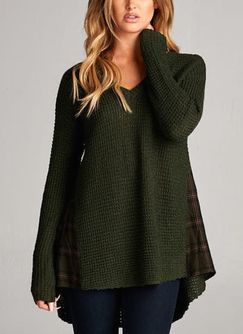 Fall In Love Waffle Sweater