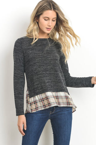 Plaid To Be Fireside Zip Top