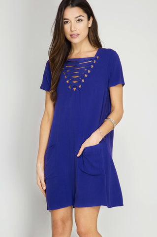 Meet The Royals Tie Neckline Dress