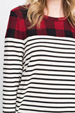 Campfire Coziness Striped Long Sleeve Top