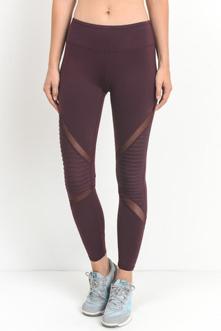 Be Bold Burgundy Panel Athletic Leggings