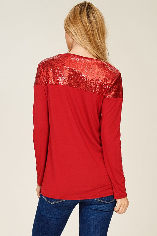 Sparkle and Shine Jersey Long Sleeve Top