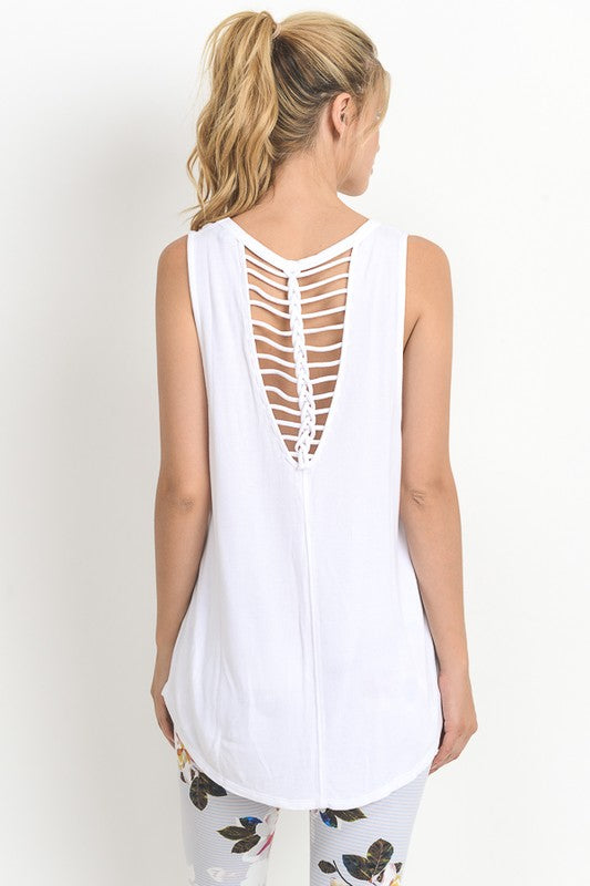 Zen You Walked In Sleeveless Athleisure Top