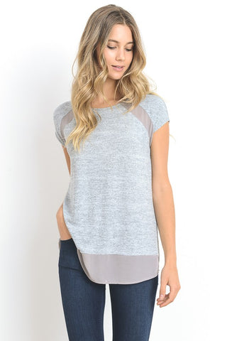 Metallic Mania Short Sleeve Top