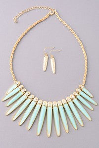 The Kahleesi Necklace and Earring Set
