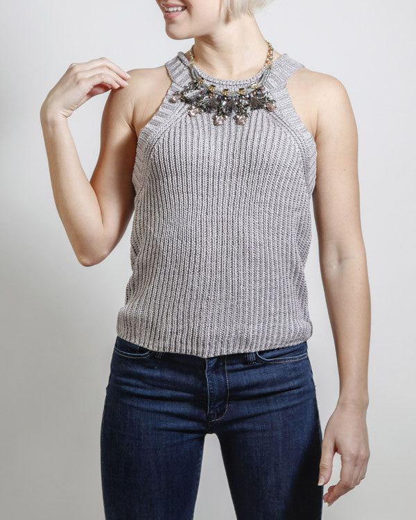 Silver Bells Sleeveless Sweater