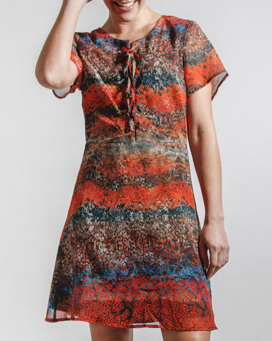 Sunset Snakeskin Dress
