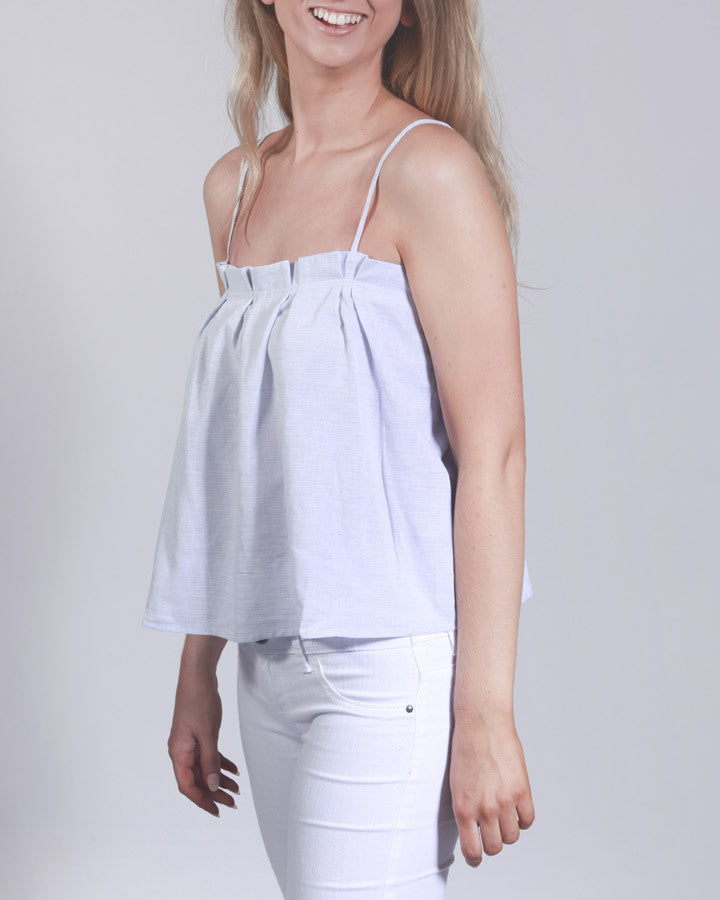 Chambray and Chardonnay Swing Top