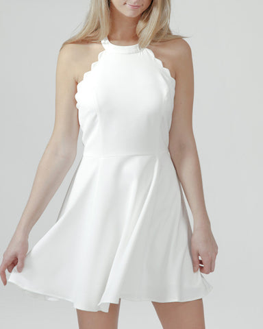 To the Chapel Scalloped Dress