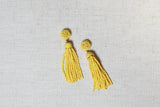 The Ellen Yellow Tassel Earring