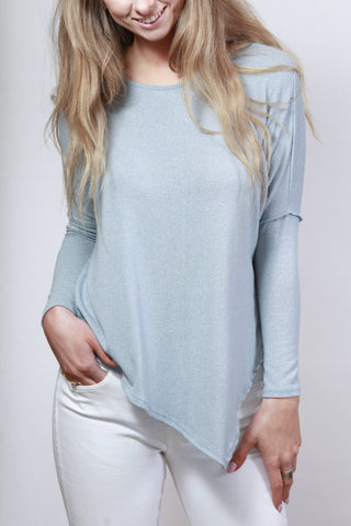 Skies Are Blue Asymmetrical Top