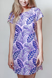 Palm Garden T-shirt Dress