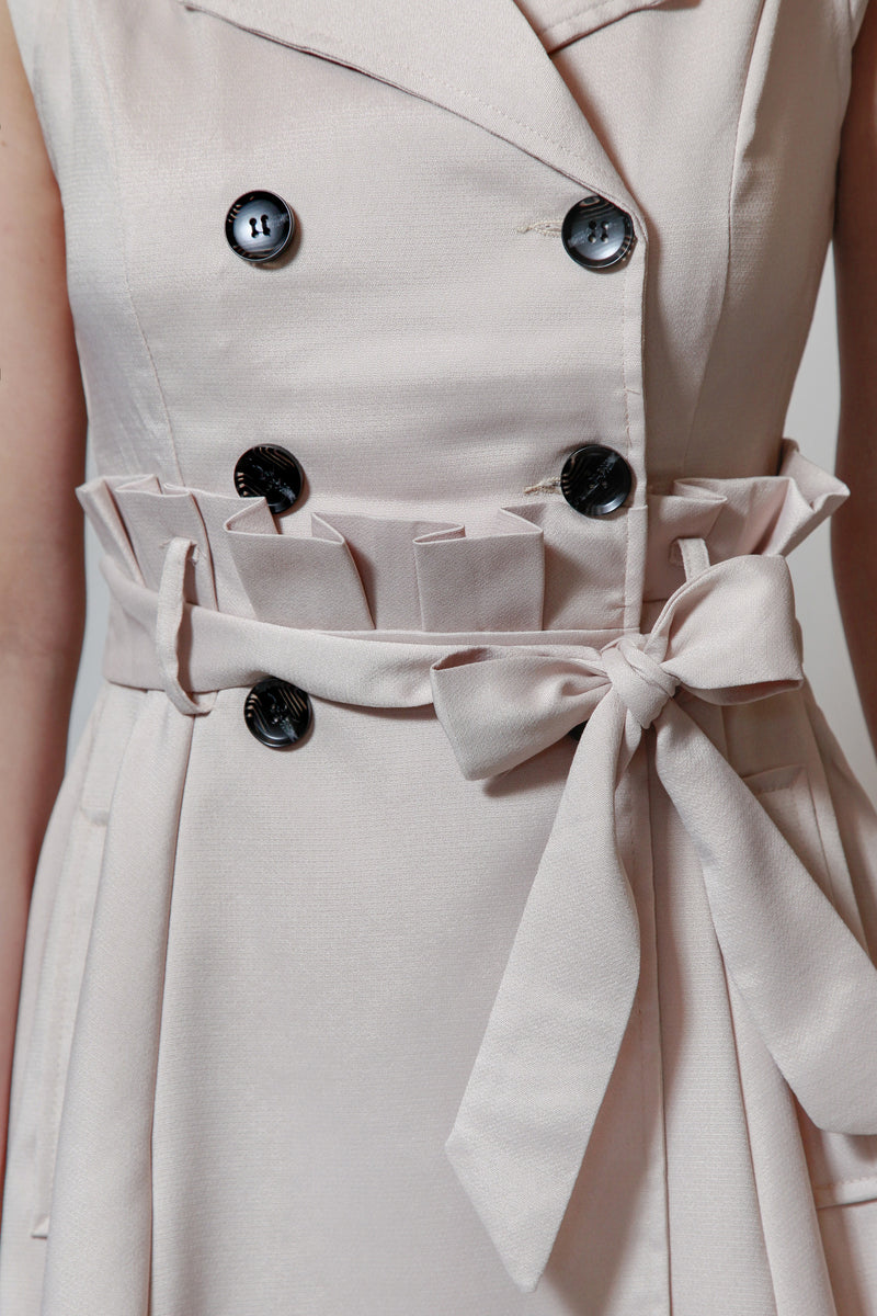 Now You See Me Button Dress