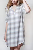 Pacific Coast Plaid Shirt Dress