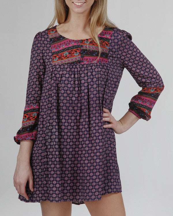 Purple Haze Boho Chic Dress
