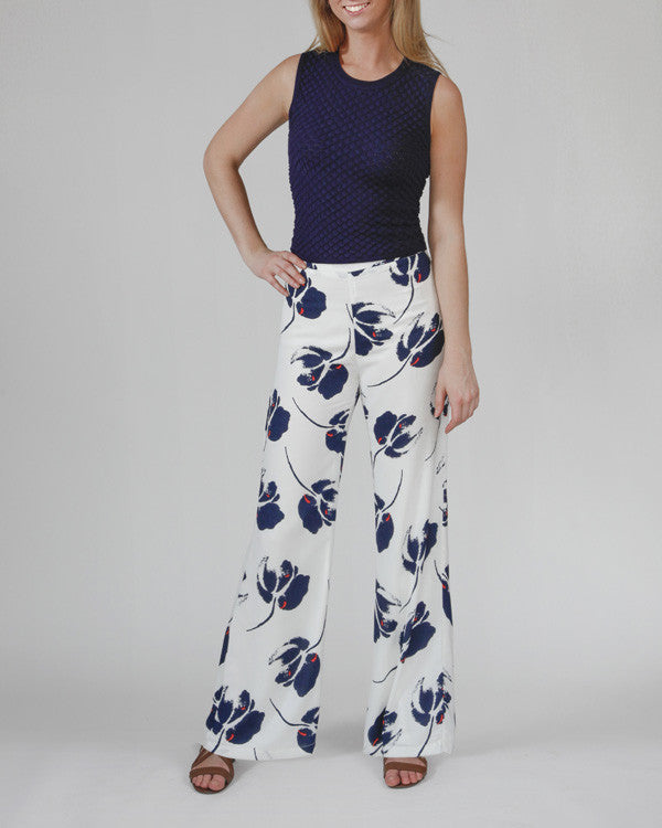 Garden Party Abstract Floral Pant