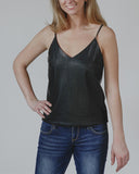 Black As Night Pleather Cami
