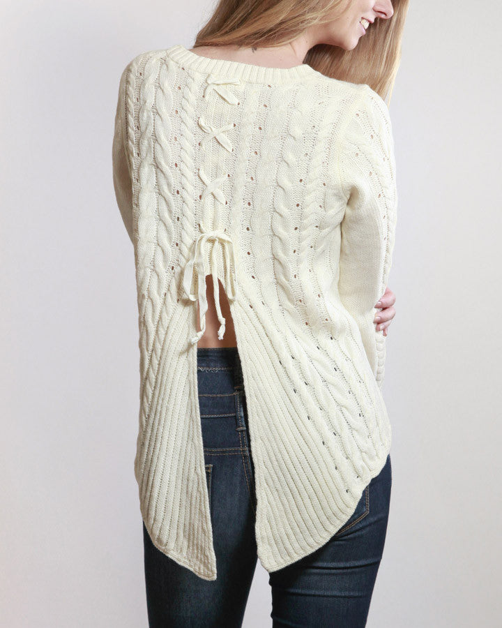 Lace Up For Love Sweater