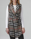 InVESTed In You Classic Plaid Long Vest