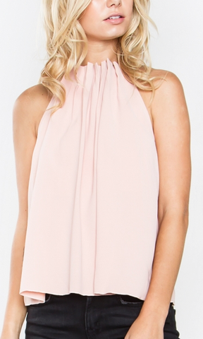 Blush and Bashful Pleated Top
