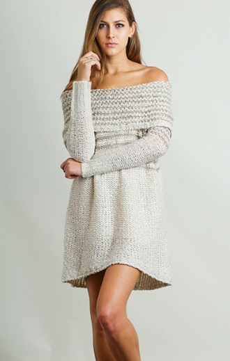 Cozy On Up To Me Off-The-Shoulder Sweater