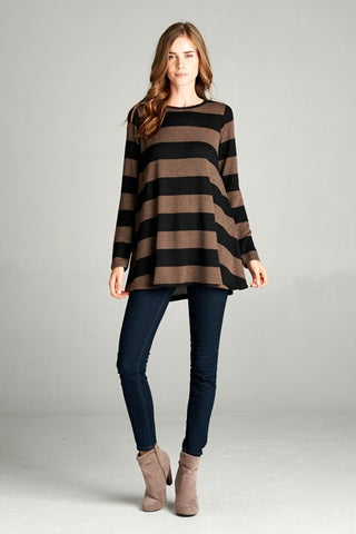 One Lucky Bandit Striped Tunic