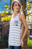 Summer In Florence Striped Tank