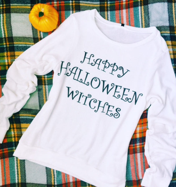 happy halloween witches sweatshirt happy halloween witches sweatshirt